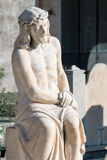 Statue of Jesus sitting Royalty Free Stock Photography