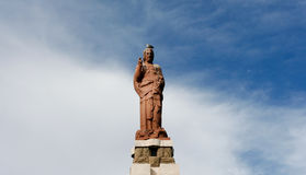 Statue of Jesus in Tarifa Royalty Free Stock Photo