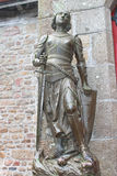 Statue of Joan of  Arc in the abbey of Mont Saint Michel. Stock Photo