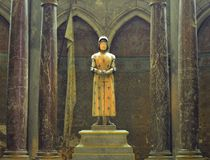 Statue of Joan of Arc. In the cathedral of Reims France Stock Photography