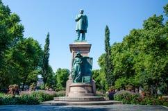 Statue of Johan Ludvig Runenberg in Esplanade Park Royalty Free Stock Images