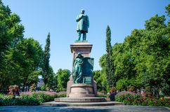 Statue of Johan Ludvig Runenberg in Esplanade Park Royalty Free Stock Images