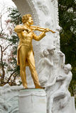 Statue of Johann Baptist Strauss  in Stadtpark, Vienna, Austria. Royalty Free Stock Images