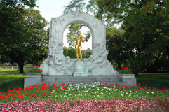 The Statue of Johann Strauss in stadtpark in Vienn Stock Photo