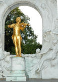 The Statue of Johann Strauss in stadtpark in Vienn Stock Photography