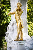 The Statue of Johann Strauss in stadtpark in Vienna, Austria Royalty Free Stock Image