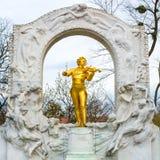 Statue of Johann Strauss,  Stadtpark in Vienna, Austria Stock Photo