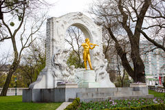 Statue of Johann Strauss,  Stadtpark in Vienna, Austria Royalty Free Stock Photography