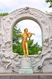Statue of Johann Strauss in Vienna. Stadtpark Stock Photo