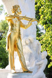 The statue of Johann Strauss, Vienna, Austria Royalty Free Stock Photography
