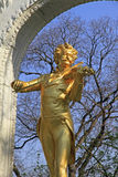 Statue of Johann Strauss Stock Photography