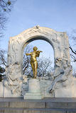 The statue of Johann Strauss in Vienna, Austria Stock Images