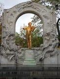 Statue of Johann Strauss in Vienna Stadtpark Royalty Free Stock Photo