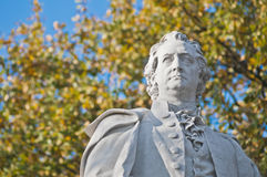 Statue of Johann Wolfgang von Goethe at Berlin, Germany. Statue of Johann Wolfgang von Goethe, poet, novelist, playwright and German scientist helped found the Royalty Free Stock Image