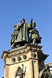 Statue of Johannes Gutenberg, inventor of book printing, Frankfurt am Main Stock Images