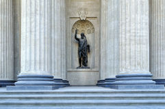 Statue of John the Baptist in the niche  of the northern portico of the Kazan Cathedral, 1811 Stock Images