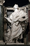 Statue of John the Evangelist the apostle. Into a niche in the Archbasilica of St. John Lateran, Rome Italy Royalty Free Stock Photos