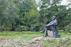 Statue of John George Haffner in Sopot Poland stock image