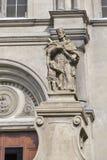 Statue John of Nepomuk at Carmelita Basilica. Keszthely, Hungary. Stock Image