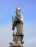 Statue of John of Nepomuk, Charles Bridge, Prague, Czech Republic Stock Photo