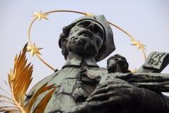Statue of John of Nepomuk - Prague, Czech Republic Royalty Free Stock Photo