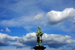 The statue of John of Nepomuk in Praha Stock Images