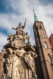 Statue of John of Nepomuk in Wroclaw Royalty Free Stock Photos