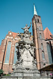 Statue of John of Nepomuk in Wroclaw Royalty Free Stock Photo