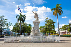 Statue of Jose Marti in the Jose Marti Park Royalty Free Stock Photos