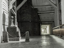 A statue of Jozef Pilsudski made from rock salt in the Wieliczka Royalty Free Stock Photo