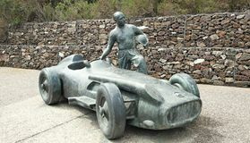 Statue of Juan Manuel Fangio Stock Images