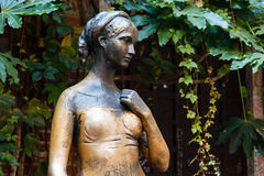 Statue of Juliet Capulet in Her House Backyard Royalty Free Stock Photography
