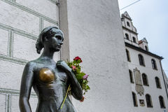 The statue of Juliet near the Old Town Hall in Munich Stock Image