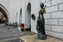 The statue of Juliet near the Old Town Hall in Munich Royalty Free Stock Image