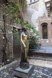 Statue of Juliet in Verona, Italy - November 15, 2015 :. Juliet`s house, the main attraction in Verona. Statue of Juliet Capulet. In Her House Backyard in stock images
