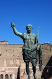 Statue of Julius Caesar Augustus in Rome, Italy Royalty Free Stock Photography