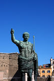 Statue of Julius Caesar Augustus in Rome, Italy Royalty Free Stock Photo
