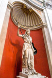 Statue of Juno Sospita in the Round Hall in the Vatican Royalty Free Stock Image