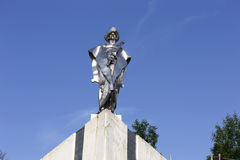 Statue of Juraj Janosik, legendary historical Hero, Terchova, Slovakia stock photography