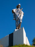 Statue of Juraj Janosik over village of Terchova, Low Fatra, Slovakia. Statue of Juraj Janosik, Terchova, Low Fatra, Slovakia stock photography