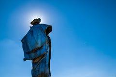 Statue of Juraj Janosik over village of Terchova, Low Fatra, Slovakia stock photography