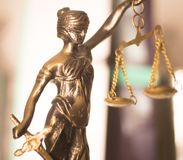 Statue juridique de cabinet d'avocats Photo libre de droits
