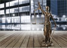 Statue of justice. Advocate antique arbitration background balance blind royalty free stock photos