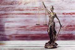 Statue of justice. Advocate antique arbitration background balance blind stock photos