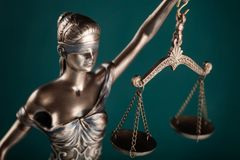 Statue of justice. Courthouse courtroom investigate justice legal rights royalty free stock photography