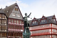 Statue of Justice. Frankfurt am Main, Germany. Royalty Free Stock Photography