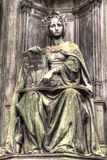 Statue of justice, HDR royalty free stock photo