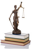 Statue of justice  isolated Stock Photo