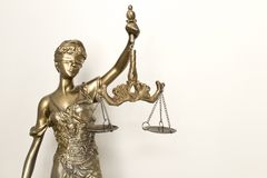 The Statue of Justice symbol, legal law concept image. royalty free stock photography