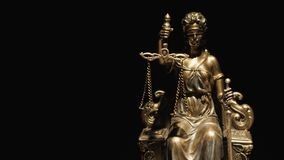 The Statue of Justice - dark background royalty free stock photo